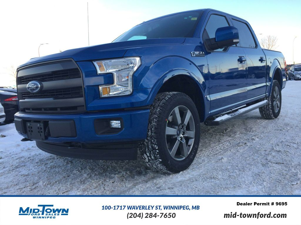 new 2017 ford f 150 lariat 4 door pickup in winnipeg 17w1e34 mid town ford. Black Bedroom Furniture Sets. Home Design Ideas